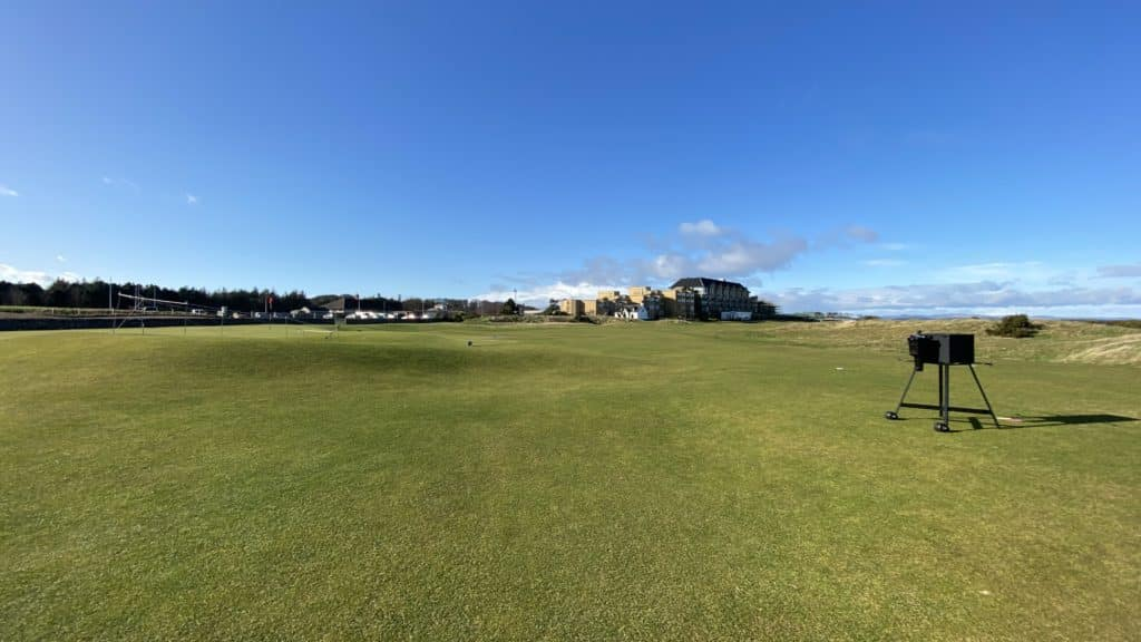 17th green and old course hotel, St. Andrews