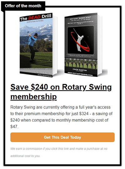 Rotary Swing offer
